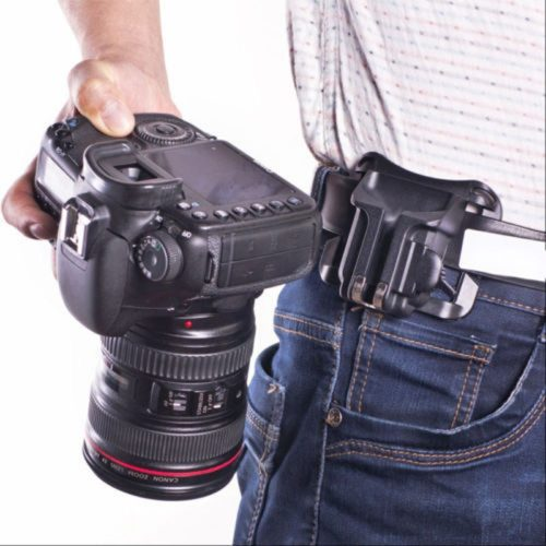 Hanger Button Buckle Mount Clip Camera Accessories Waist Belt for Sony Canon Nikon SLR DSLR Camera Quick Strap Charger Holster