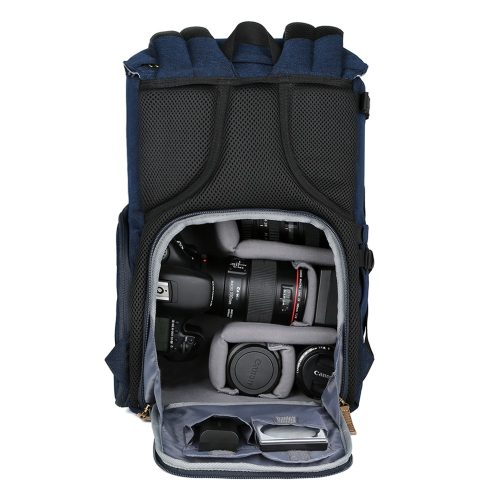 K&F CONCEPT Professional Travel Camera Backpack Case With Tripod Holder Side Compartments Rain Cover for Digital Camera