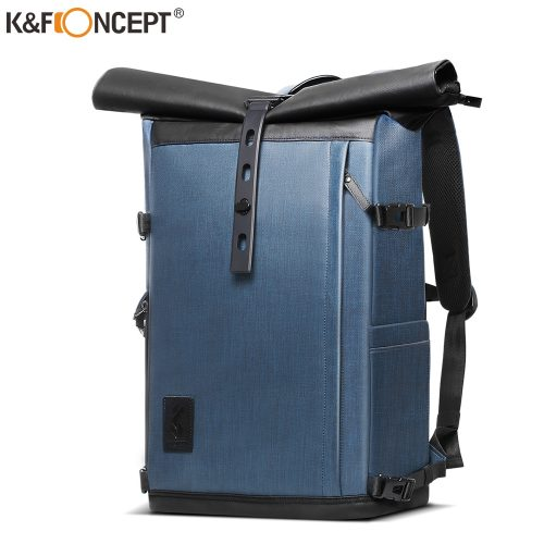 K&F Concept 17.7 inch Camera Backpack Waterproof Photography Bag for DSLR Camera Lens Laptop bag with Rain Cover tripod hold